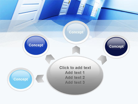 Tilted Corridor PowerPoint Template Slide 7