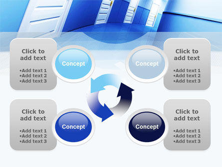 Tilted Corridor PowerPoint Template Slide 9