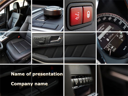 Car Interior Design PowerPoint Template, 10319, Careers/Industry — PoweredTemplate.com