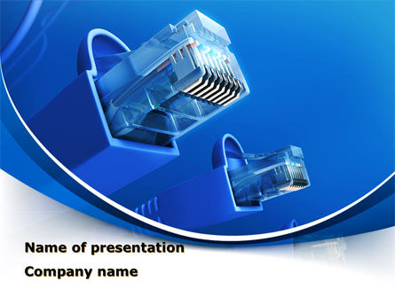 Technology and Science: RJ Connector PowerPoint Template #10322