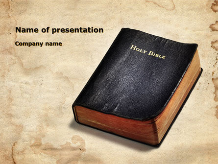 Religious/Spiritual: Worn Bible PowerPoint Template #10323