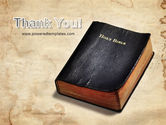 Worn Bible PowerPoint Template#20