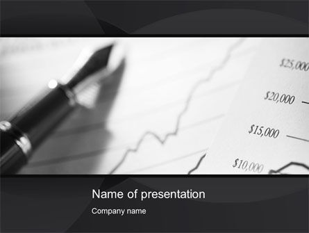 Financial Report PowerPoint Template, 10324, Financial/Accounting — PoweredTemplate.com