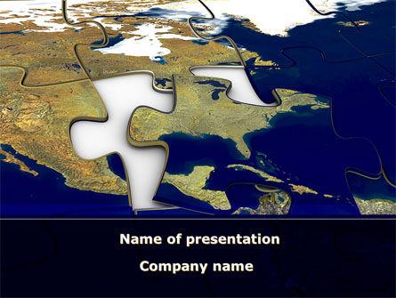 USA Puzzle PowerPoint Template, 10325, Global — PoweredTemplate.com