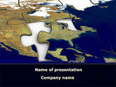 Global: Usa puzzle PowerPoint Vorlage #10325