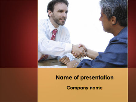 Negotiating PowerPoint Template, 10326, Business Concepts — PoweredTemplate.com