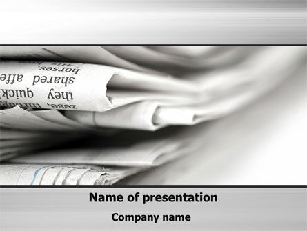 Careers/Industry: Newspapers PowerPoint Template #10329