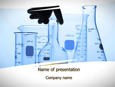 Lab Glass Equipment PowerPoint Template, Backgrounds | 10330 ...