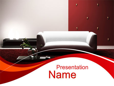 Red and White Interior PowerPoint Template, 10335, Careers/Industry — PoweredTemplate.com