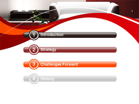 Red and White Interior PowerPoint Template, Slide 3, 10335, Careers/Industry — PoweredTemplate.com