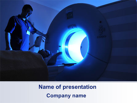 Medical: MRI Machine PowerPoint Template #10336