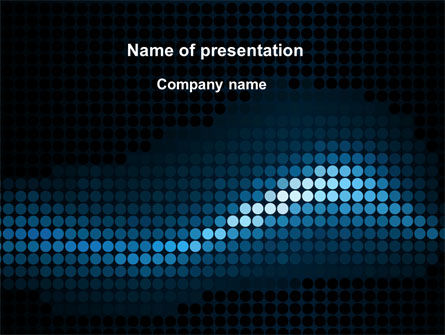 Dotted Wave PowerPoint Template