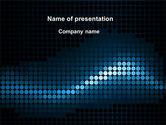 Abstract/Textures: Dotted Wave PowerPoint Template #10339