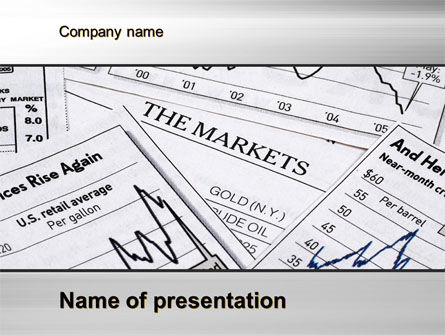 Market Report PowerPoint Template, 10342, Financial/Accounting — PoweredTemplate.com