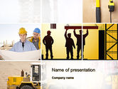 Careers/Industry: Construction Process PowerPoint Template #10343