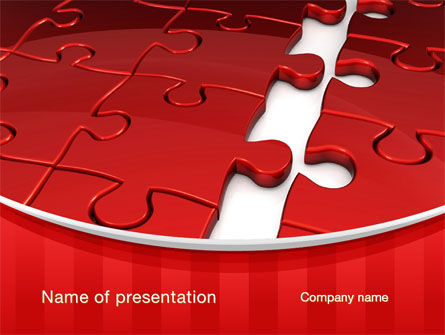 Gap in Puzzle PowerPoint Template