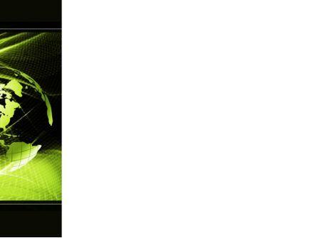 Green Waves Globe PowerPoint Template, Slide 3, 10346, Global — PoweredTemplate.com
