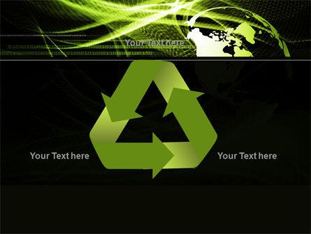 Green Waves Globe PowerPoint Template Slide 10