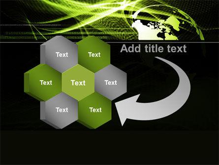 Green Waves Globe PowerPoint Template Slide 11