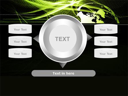 Green Waves Globe PowerPoint Template Slide 12