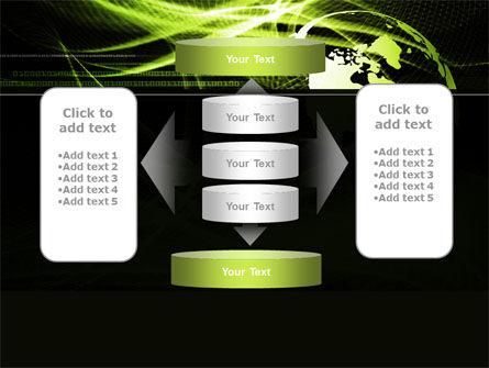 Green Waves Globe PowerPoint Template Slide 13
