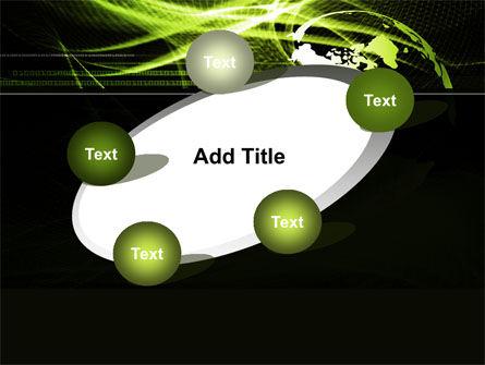 Green Waves Globe PowerPoint Template Slide 14