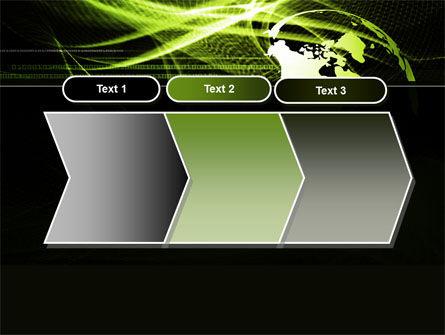 Green Waves Globe PowerPoint Template Slide 16