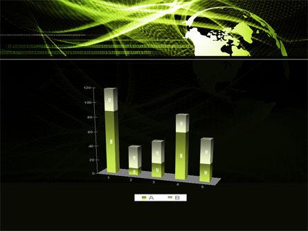 Green Waves Globe PowerPoint Template Slide 17