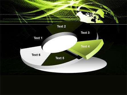 Green Waves Globe PowerPoint Template Slide 19