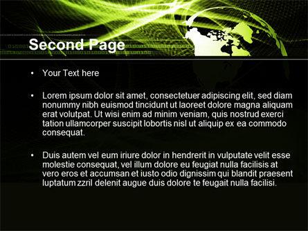 Green Waves Globe PowerPoint Template Slide 2