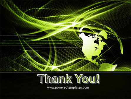 Green Waves Globe PowerPoint Template Slide 20