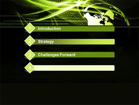Green Waves Globe PowerPoint Template, Slide 3, 10346, Global — PoweredTemplate.com