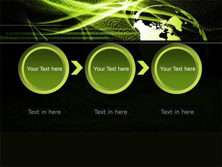 Green Waves Globe PowerPoint Template Slide 5