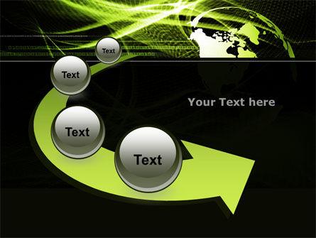 Green Waves Globe PowerPoint Template Slide 6