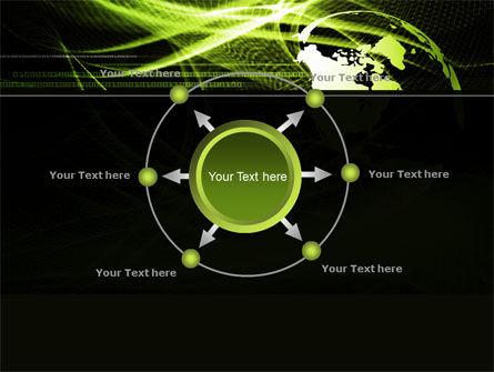 Green Waves Globe PowerPoint Template Slide 7