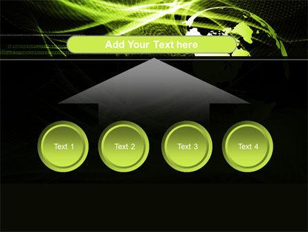 Green Waves Globe PowerPoint Template Slide 8