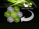 Green Waves Globe PowerPoint Template#11