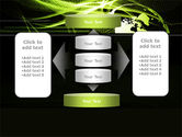Green Waves Globe PowerPoint Template#13