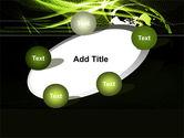 Green Waves Globe PowerPoint Template#14