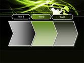 Green Waves Globe PowerPoint Template#16