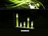Green Waves Globe PowerPoint Template#17