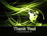 Green Waves Globe PowerPoint Template#20