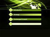 Green Waves Globe PowerPoint Template#3