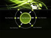 Green Waves Globe PowerPoint Template#7