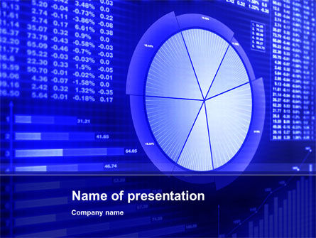 Stock Market Pie Chart PowerPoint Template