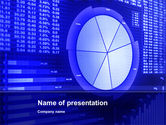 Financial/Accounting: Stock Market Pie Chart PowerPoint Template #10348
