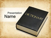 Education & Training: Dictionary Book PowerPoint Template #10350