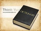 Dictionary Book PowerPoint Template#20