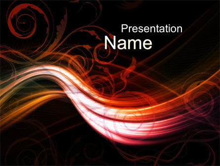 Red Curves PowerPoint Template, 10351, Abstract/Textures — PoweredTemplate.com