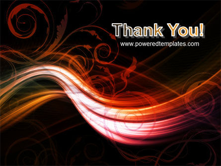 Red Curves PowerPoint Template Slide 20